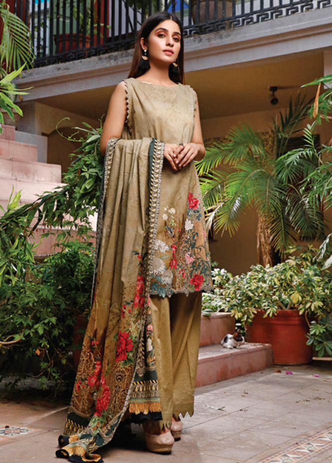 Malhar Printed Lawn Unstitched 3 Piece Suit ML20D 229-B - Spring / Summer Collection