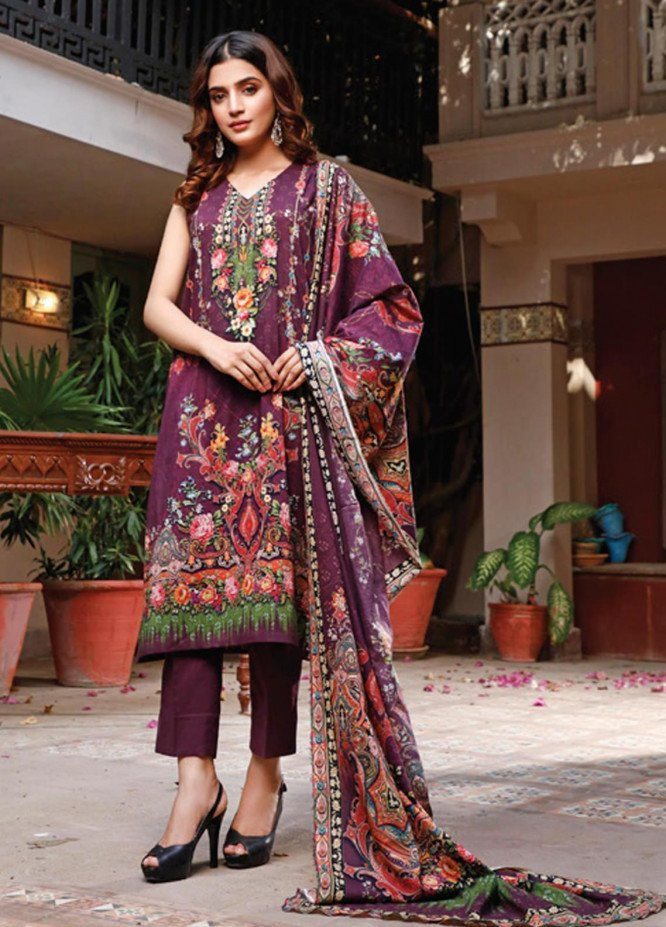 Malhar Printed Lawn Unstitched 3 Piece Suit ML20D 235-B - Spring / Summer Collection