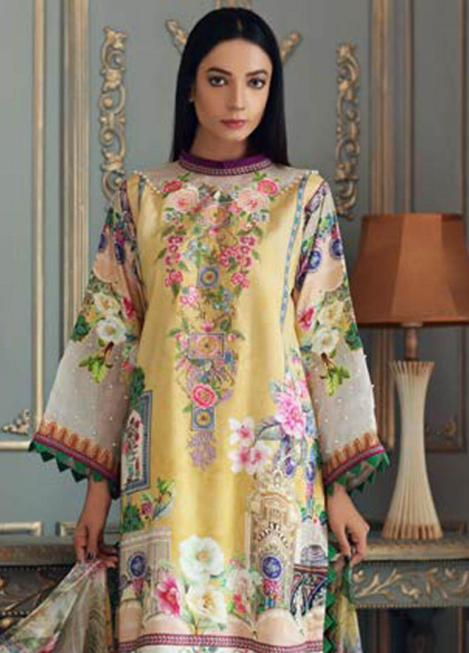 Malhar Embroidered Linen Unstitched 3 Piece Suit ML18LI 08 - Fall Winter