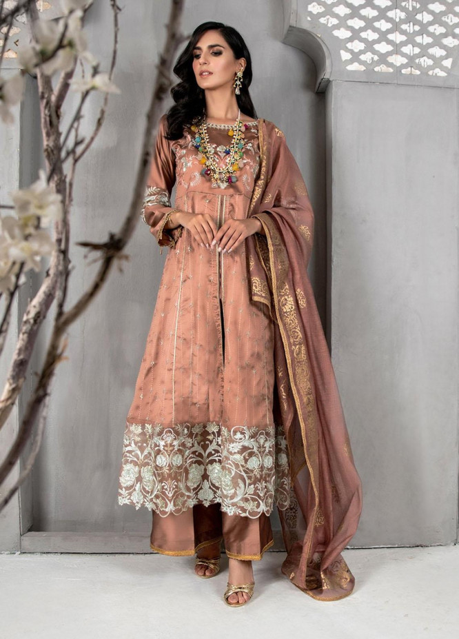 Malka by Fashion Porters Embroidered Khaadi Silk Suits Unstitched 3 Piece FP21MK WUS21-MK6 - Winter Collection