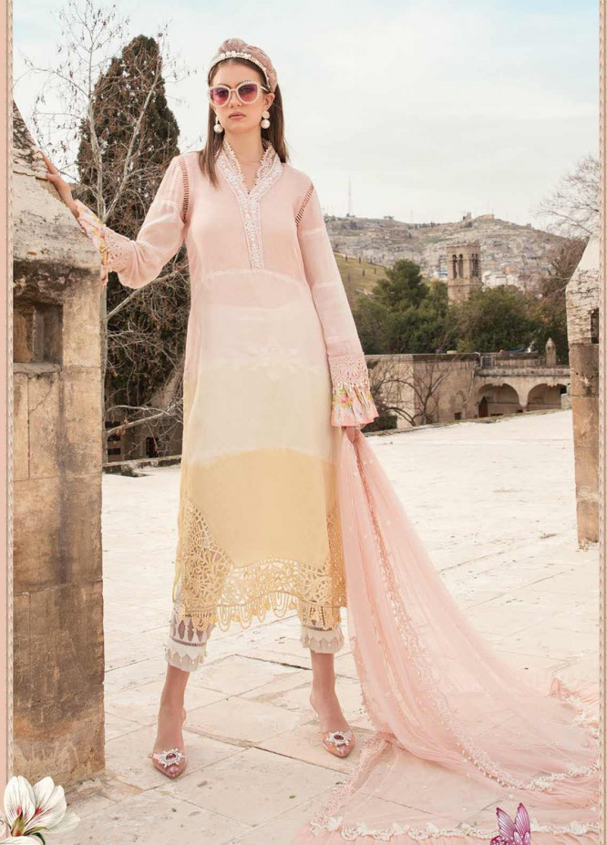 Maria B Embroidered Woven Yarn Suits Unstitched 3 Piece MB21L 12-A - Summer Collection