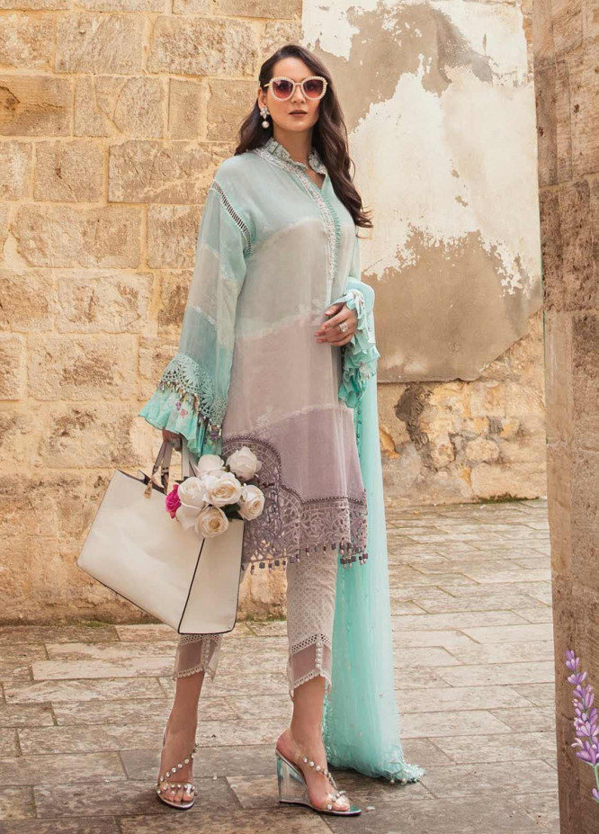 Maria B Embroidered Woven Yarn Suits Unstitched 3 Piece MB21L 12-B - Summer Collection