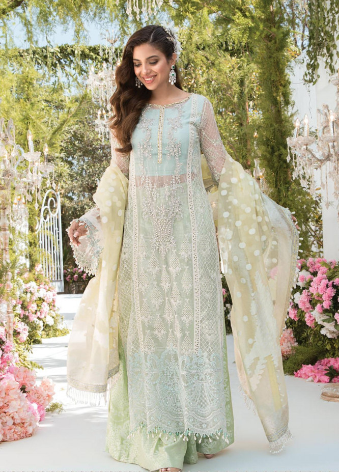 Mbroidered By Maria B Embroidered Organza Suits Unstitched 3 Piece MB21MB 02 - Eid Collection