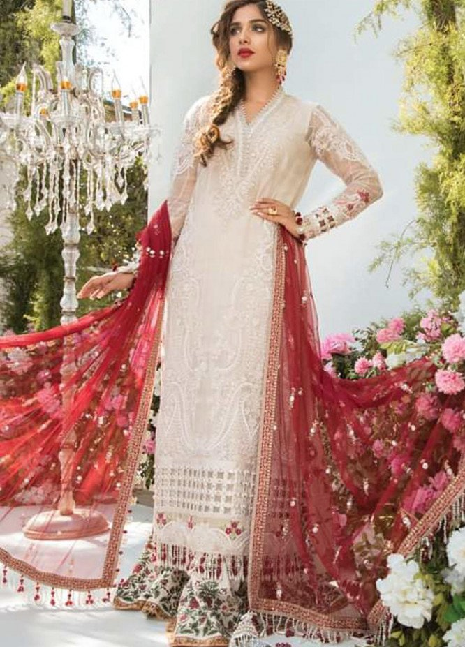 Mbroidered By Maria B Embroidered Organza Suits Unstitched 3 Piece MB21MB 03 - Eid Collection