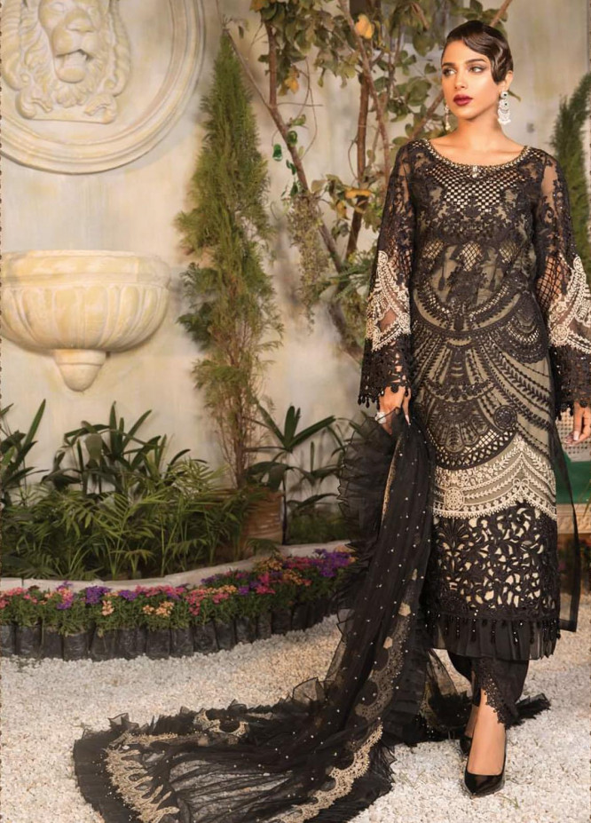 Mbroidered By Maria B Embroidered Organza Suits Unstitched 3 Piece MB21MB 06 - Eid Collection