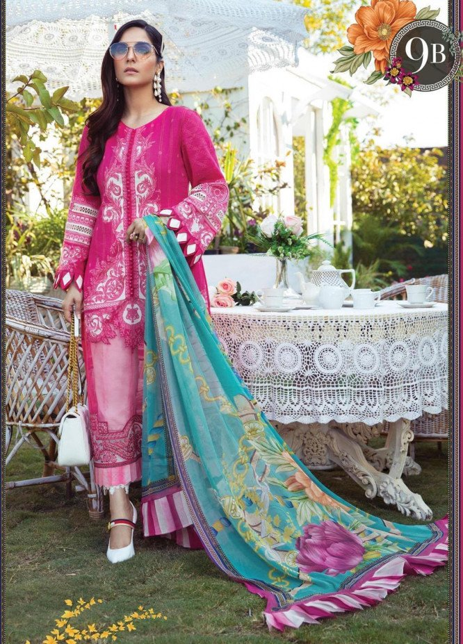 Mprints by Maria B Printed Lawn Suits Unstitched 3 Piece MB21MP 9B - Summer Collection