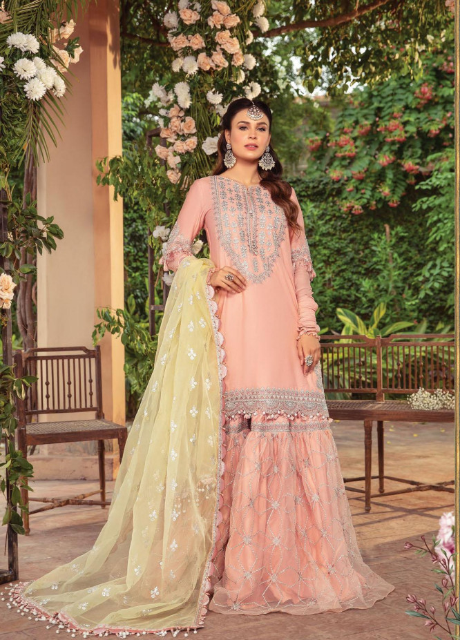 Maria B Embroidered Cotton Satin Suits Unstitched 3 Piece MB21SU D-05 - Festive Collection