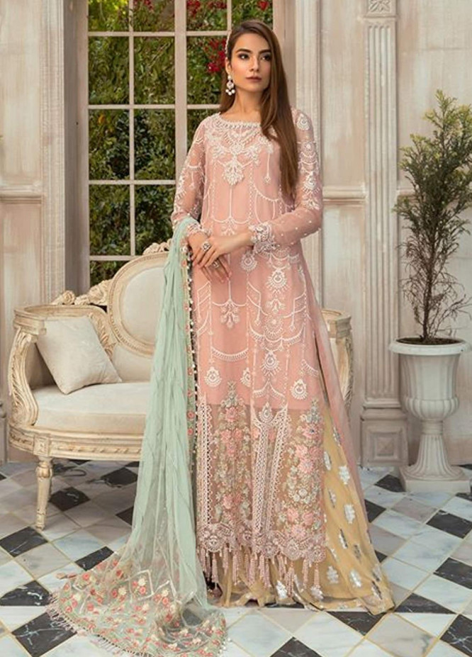Maria B Embroidered Organza Unstitched 3 Piece Suit MR20M D 07 - Luxury Collection