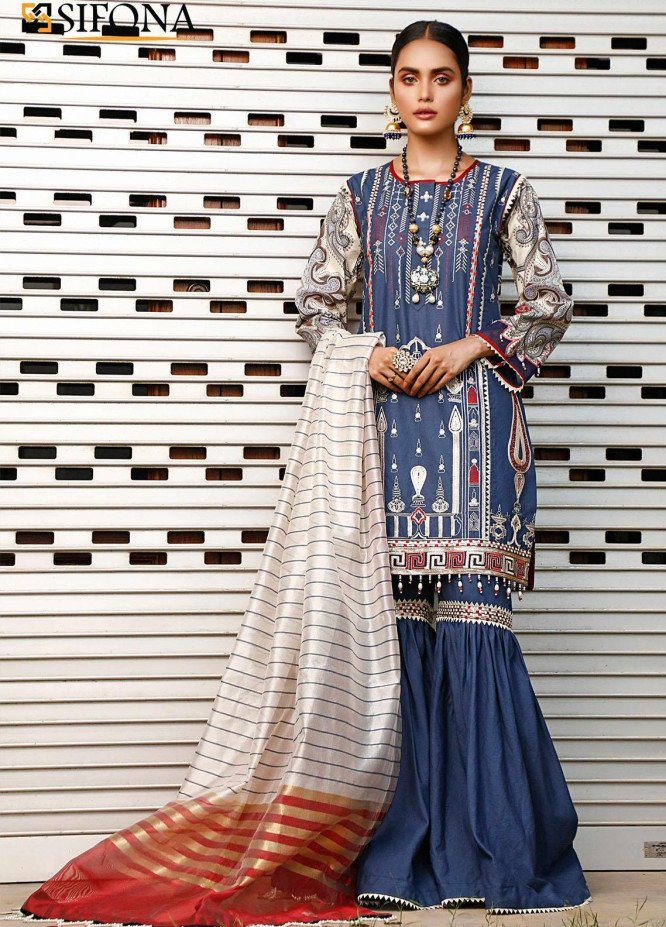 Marjaan by Sifona Embroidered Lawn Unstitched 3 Piece Suit MJ20SF 02 - Luxury Collection