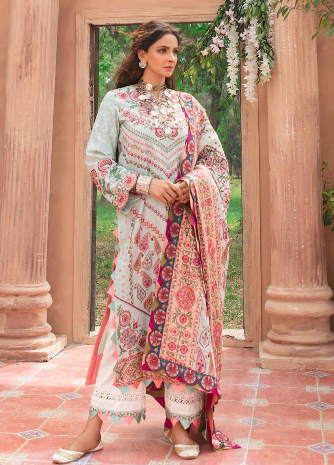 Maryam Hussain Embroidered Lawn Suits Unstitched 3 Piece MRH21LL 04-Chandni - Festive Collection