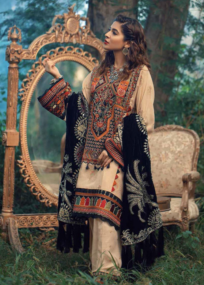 Maryam Hussain Embroidered Karandi Unstitched 3 Piece Suit MRH20W 07 EDEN - Winter Collection
