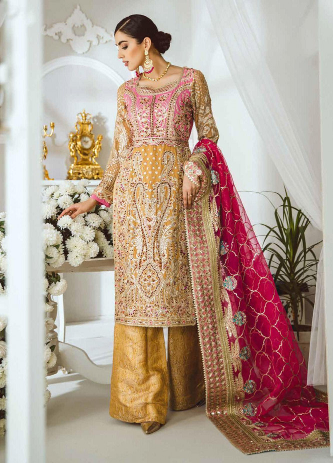 Maryum N Maria Embroidered Chiffon Suits Unstitched 3 Piece MNM21LC MFD0006 INFINITE SHINE - Luxury Collection