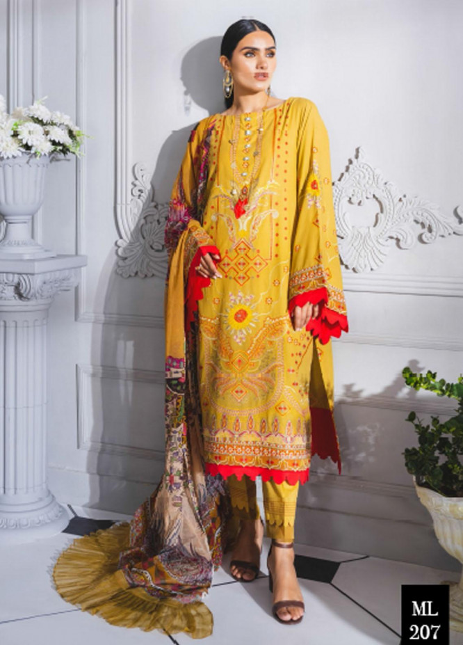 Maryum N Maria Embroidered Lawn Suits Unstitched 3 Piece MNM21F 207 Omegiley - Festive Collection