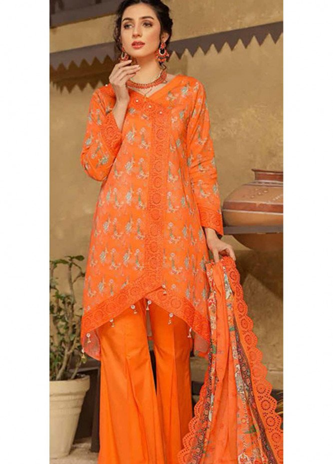 Mashal by Riaz Arts Embroidered Lawn Suits Unstitched 3 Piece RA21MH ML-05 - Summer Collection