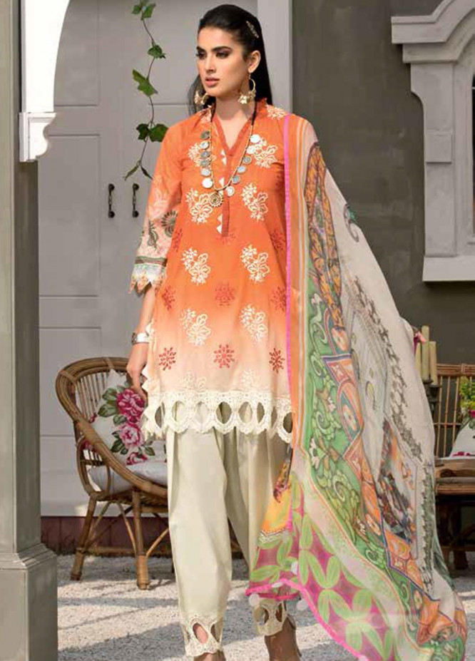 Zarif by Mavii Embroidered Lawn Suits Unstitched 3 Piece ZF21M 01 Zehra - Spring / Summer Collection