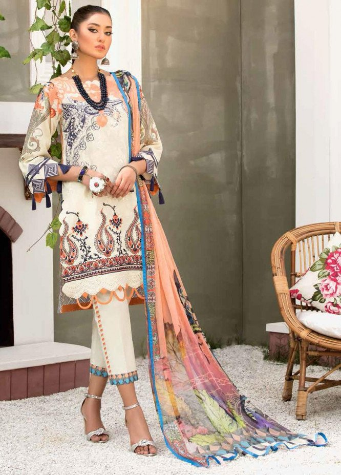 Zarif by Mavii Embroidered Lawn Suits Unstitched 3 Piece ZF21M 03 Nafs - Spring / Summer Collection