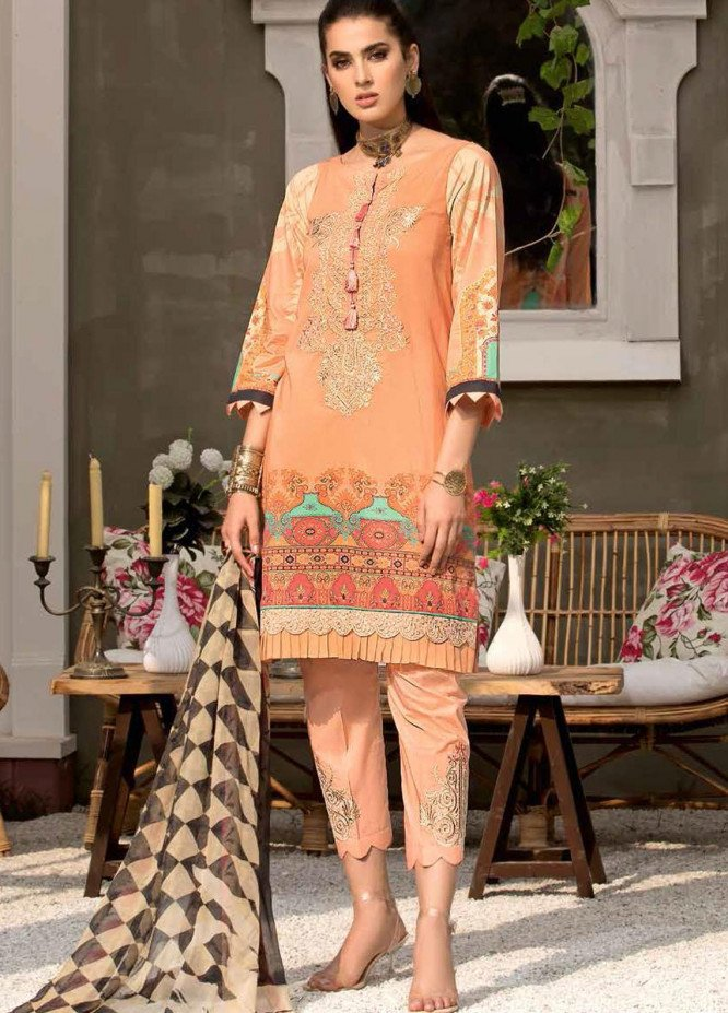Zarif by Mavii Embroidered Lawn Suits Unstitched 3 Piece ZF21M 09 Amal - Spring / Summer Collection