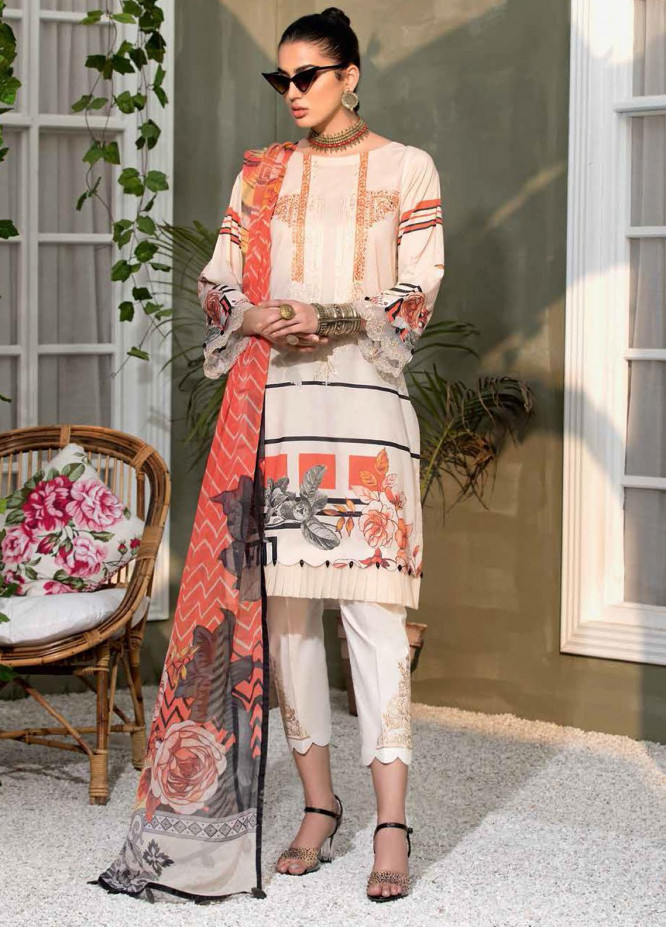 Zarif by Mavii Embroidered Lawn Suits Unstitched 3 Piece ZF21M 11 Reyna - Spring / Summer Collection