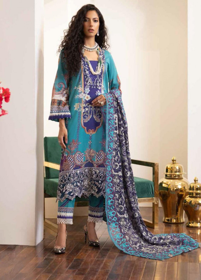 Maya by Nureh Embroidered Lawn Suits Unstitched 3 Piece NU21ML 13 - Summer Collection