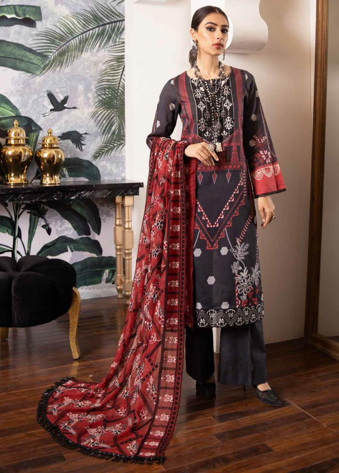 Maya by Nureh Embroidered Lawn Suits Unstitched 3 Piece NU21ML 16 - Summer Collection