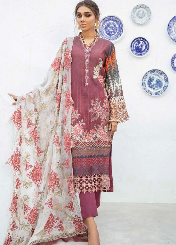 Maya By Nureh Embroidered Lawn Unstitched 3 Piece Suit N21MW 23 Morocco - Summer Collection
