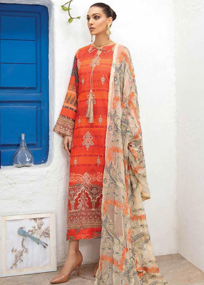 Maya By Nureh Embroidered Lawn Unstitched 3 Piece Suit N21MW 24 Signora - Summer Collection