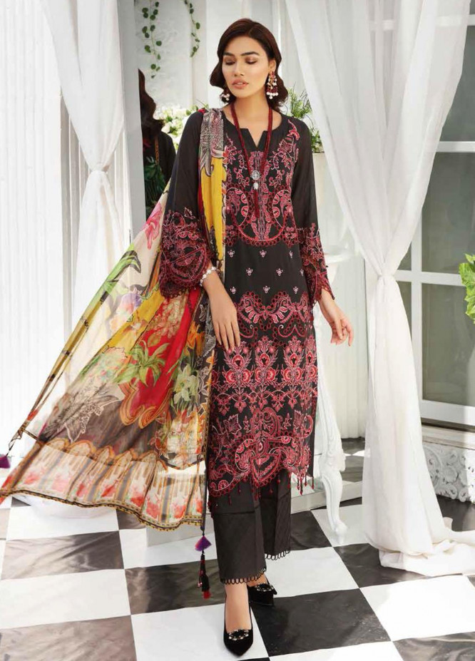 Maya by Nureh Embroidered Lawn Unstitched 3 Piece Suit NU21M 06 Berry Bliss - Summer Collection