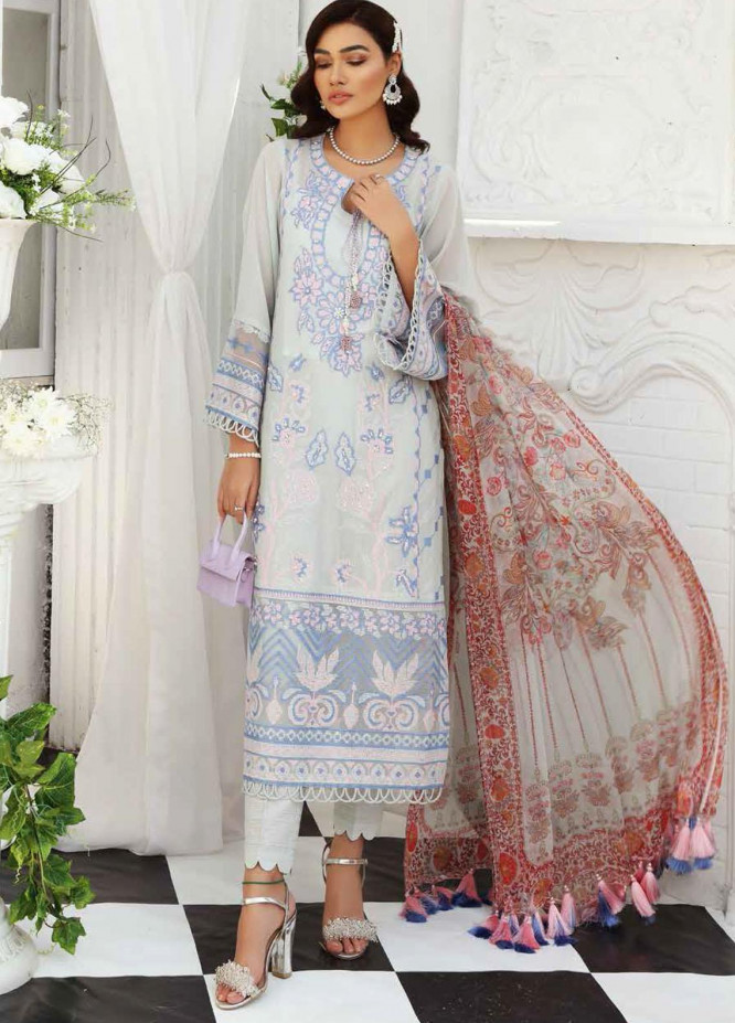 Maya by Nureh Embroidered Lawn Unstitched 3 Piece Suit NU21M 07 Dreamy Allure - Summer Collection