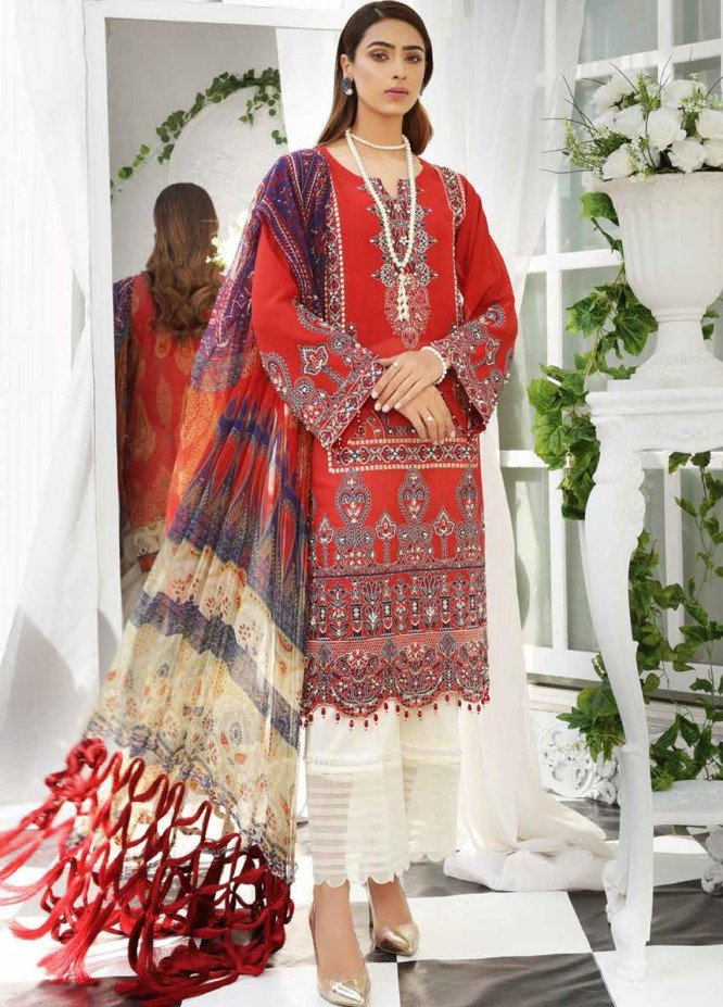 Maya by Nureh Embroidered Lawn Unstitched 3 Piece Suit NU21M 09 Byzantine - Summer Collection