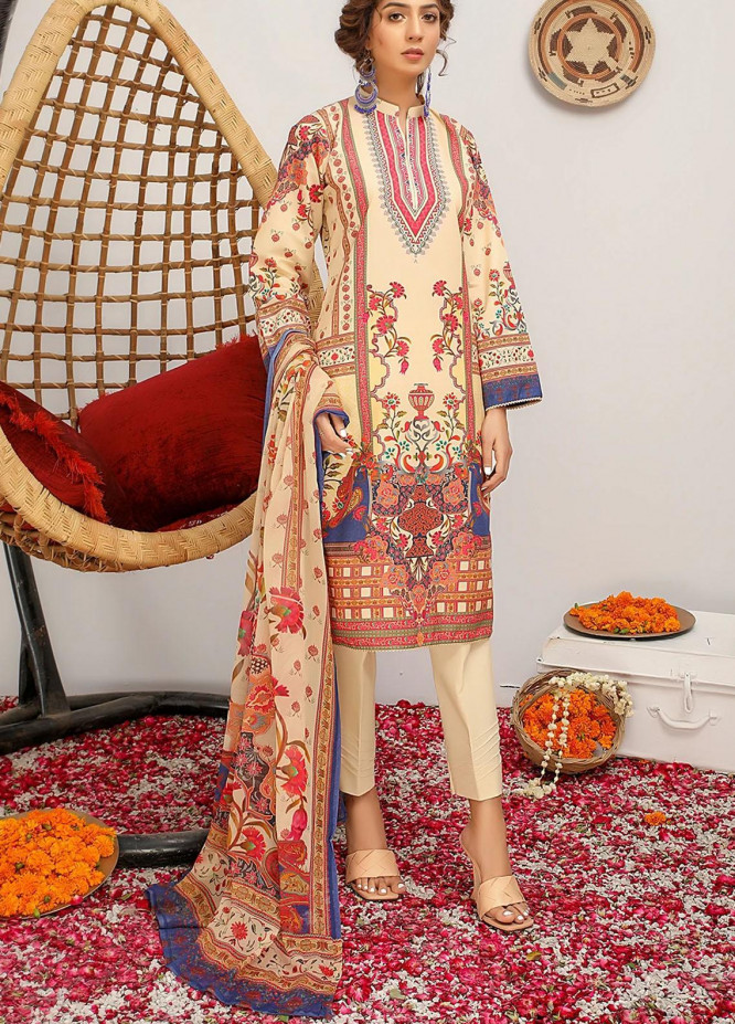 Meeral Printed Lawn Suits Unstitched 3 Piece MRL21-L2 07 Camilia - Summer Collection
