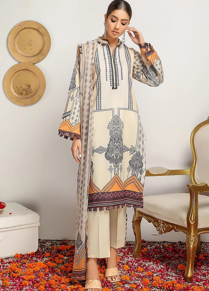 Meeral Printed Lawn Suits Unstitched 3 Piece MRL21-L2 08 Empress - Summer Collection