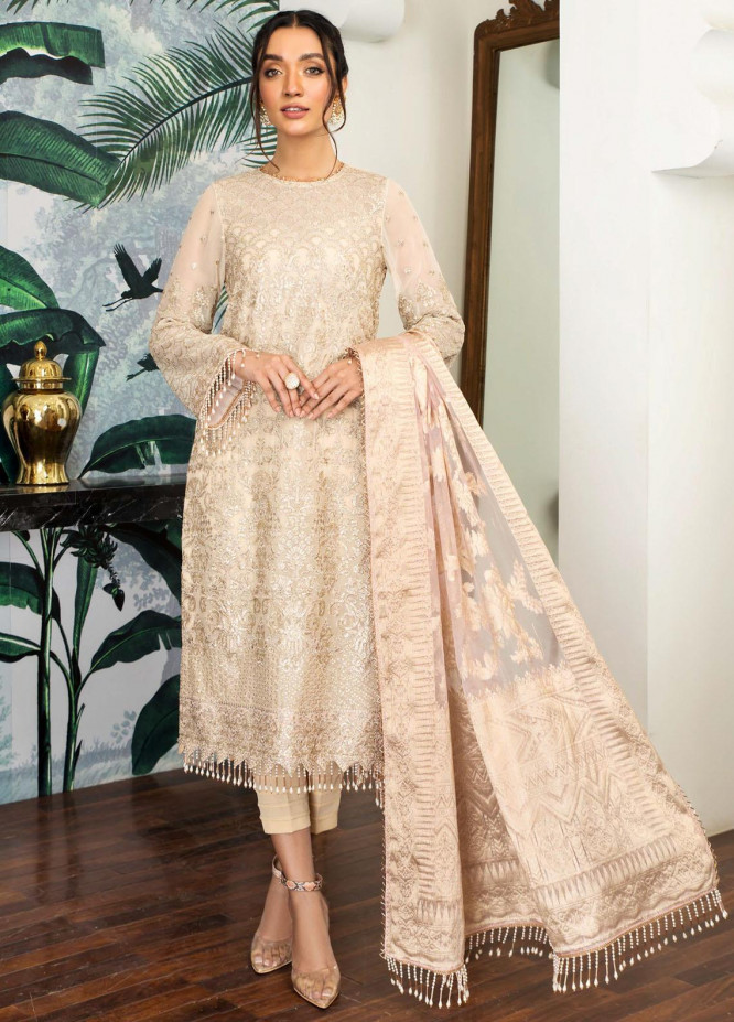 Mehakmah by Zarif Embroidered Chiffon Suits Unstitched 3 Piece ZF21MK ZM-05 ROSHNI - Summer Collection