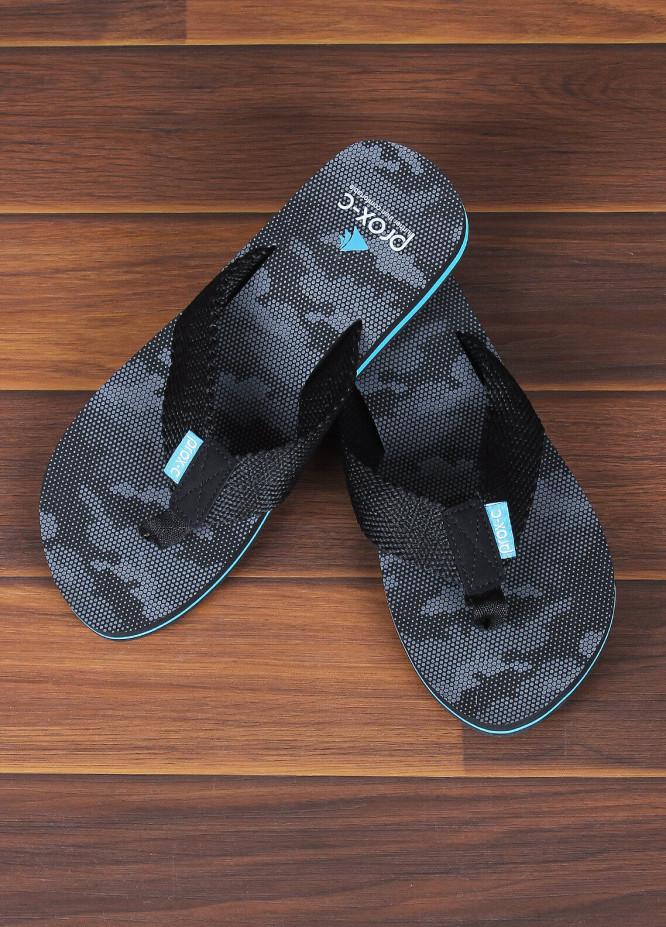 Sanaulla Exclusive Range  Rubber Flip Flops For Men 307 Black