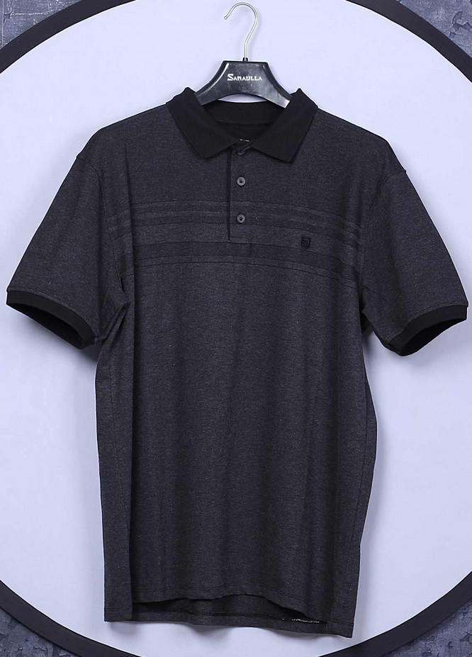 Sanaulla Exclusive Range Cotton Casual T-Shirts for Men -  5001 Dark Grey
