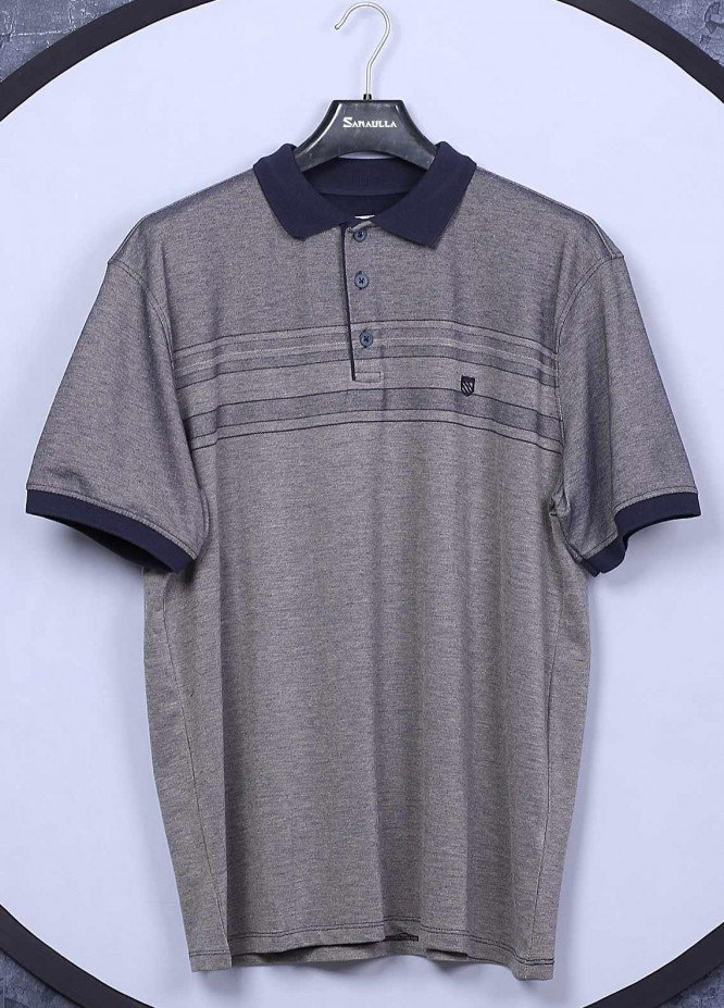 Sanaulla Exclusive Range Cotton Casual Men T-Shirts -  5001 Light Grey