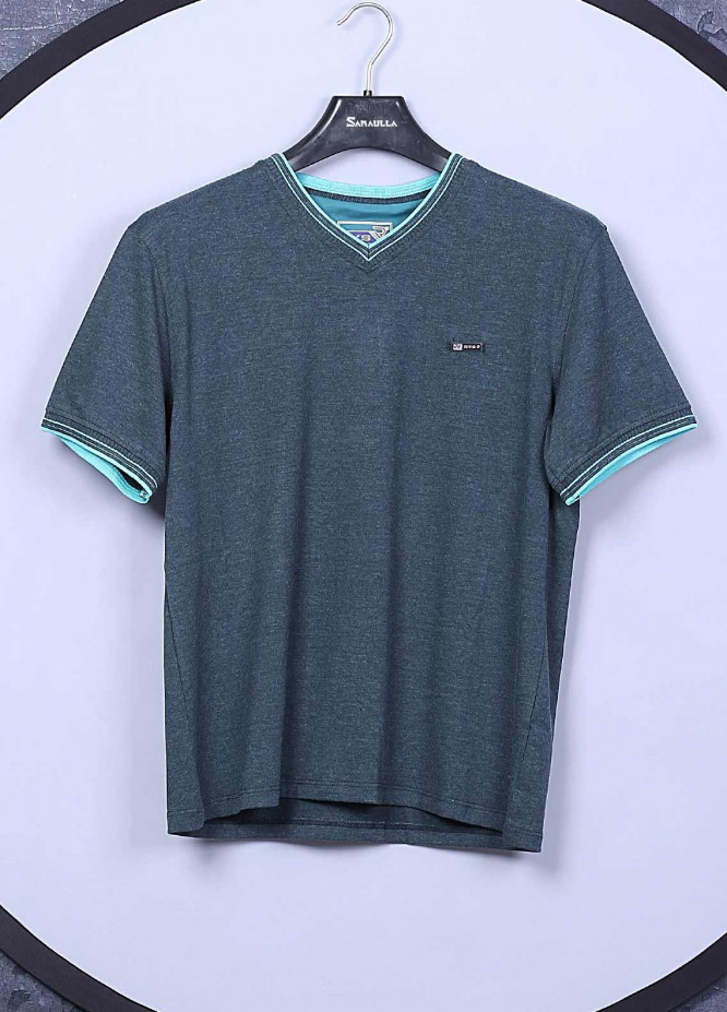 Sanaulla Exclusive Range Cotton Casual T-Shirts for Mens -  5140 Dark Green