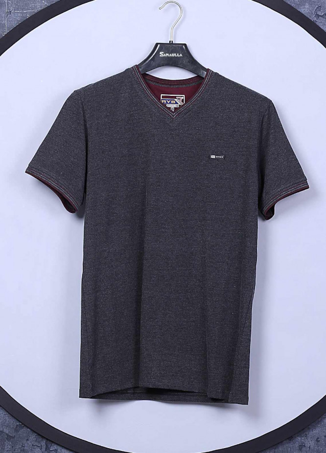 Sanaulla Exclusive Range Cotton Casual Mens T-Shirts -  5140 Light Grey