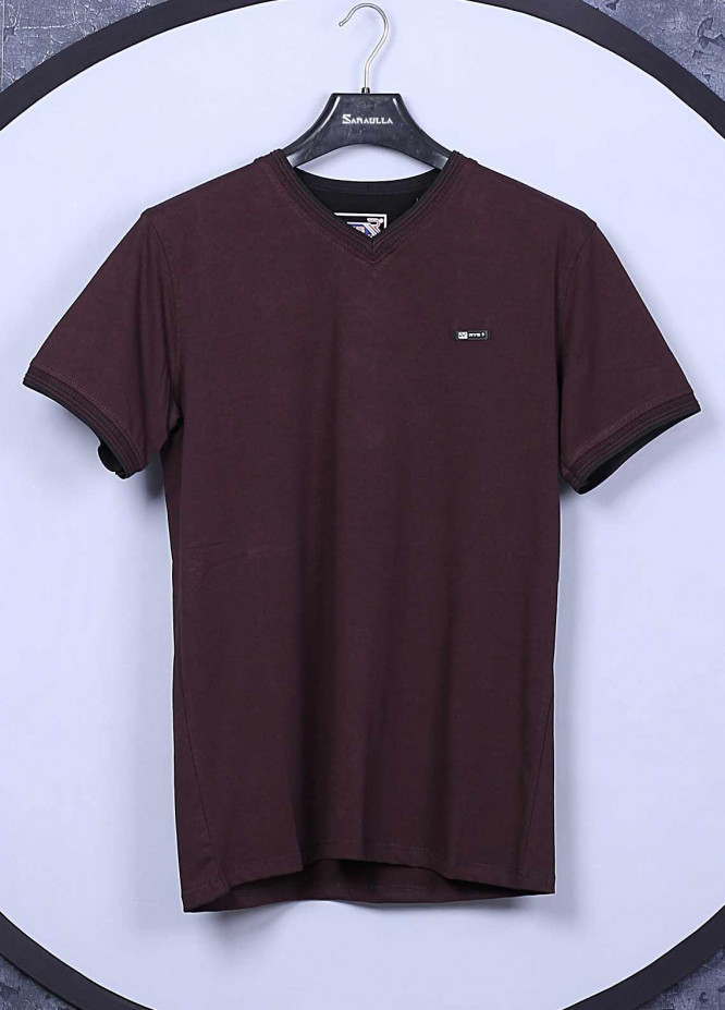 Sanaulla Exclusive Range Cotton Casual T-Shirts for Mens -  5140 Maroon