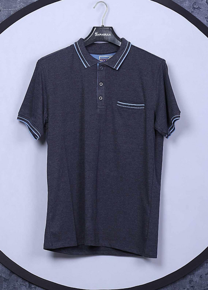 Sanaulla Exclusive Range Cotton Casual Men T-Shirts -  5143 Blue
