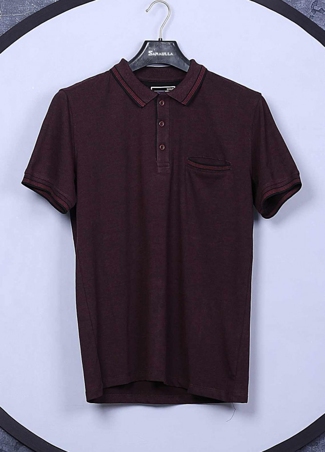 Sanaulla Exclusive Range Cotton Casual Men T-Shirts -  5143 Maroon