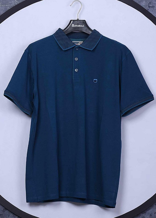Sanaulla Exclusive Range Cotton Casual Men T-Shirts -  5306 Blue