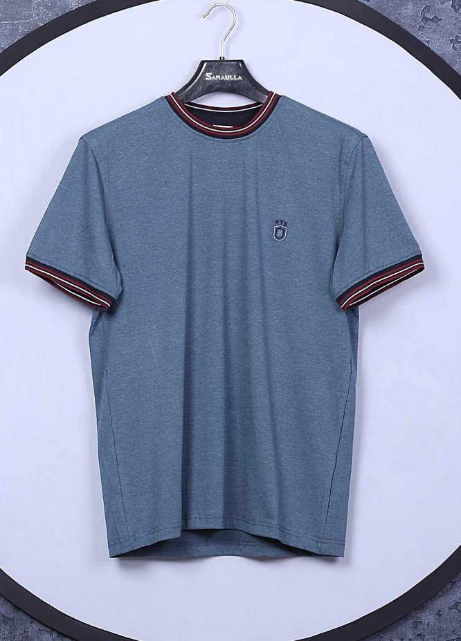 Sanaulla Exclusive Range Cotton Casual T-Shirts for Mens -  5309 Grey