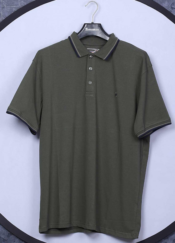 Sanaulla Exclusive Range Cotton Casual Men T-Shirts -  5317 Green