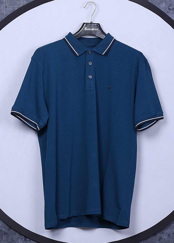 Sanaulla Exclusive Range Cotton Casual Men T-Shirts - 5317 Royal Blue