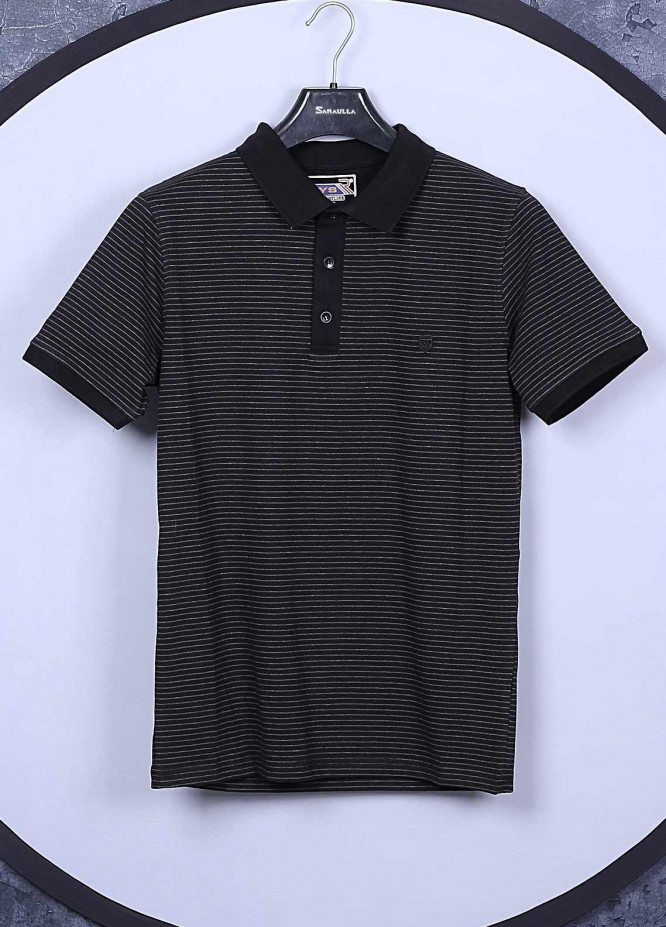 Sanaulla Exclusive Range Cotton Casual Mens T-Shirts -  5351 Black
