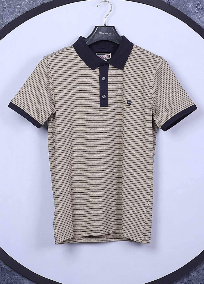 Sanaulla Exclusive Range Cotton Casual T-Shirts for Mens -  5351 Brown