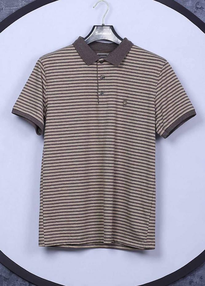 Sanaulla Exclusive Range Cotton Casual Men T-Shirts -  5362 Brown