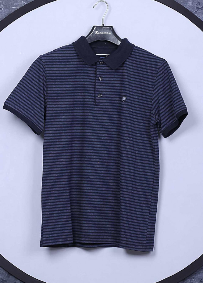Sanaulla Exclusive Range Cotton Casual Men T-Shirts -  5362 Navy Blue