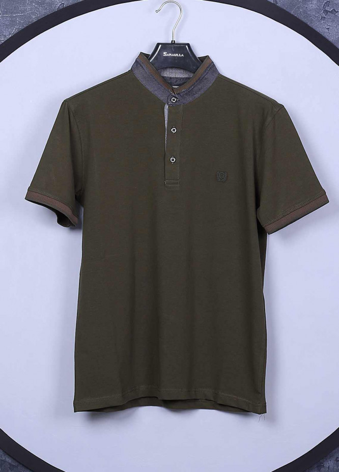 Sanaulla Exclusive Range Cotton Casual Mens T-Shirts -  5368 Green