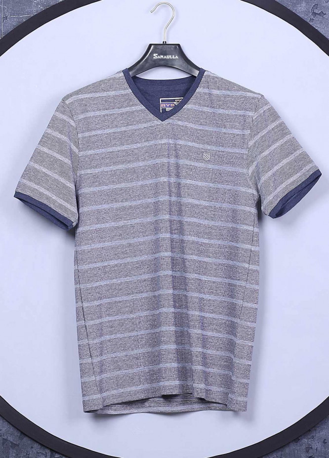 Sanaulla Exclusive Range Cotton Casual Mens T-Shirts -  5407 Light Grey
